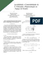 Análise de Controlabilidade e Observabilidade de Um Motor DC No Espaço de Estados
