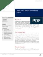 Rishabh Engineering CS 50 Piping Stress Analysis of FRP Piping System