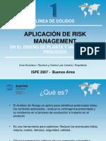 Aplicación de Risk Management en El Diseño de Planta y Validación de Procesos