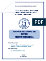 Diagnóstico Situacional Medicina Especializada 2018