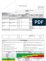 blank risk assessment college template