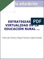 Estrategias de virtualidad en la educación rural el reto del e-