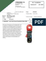 Cotizacion Nº Zn-32133-18-Tenaza de Tierra 6417 y Tenaza de Corriente 565 Aemc- Icasel Cc