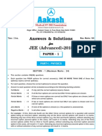 Solution JEE(Advanced)-2018 Paper-1 (PCM)