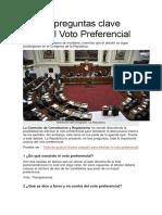 Cuatro Preguntas Clave Sobre El Voto Preferencial