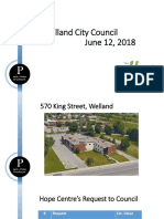 The Hope Centre presentation to Welland council