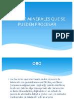 Tipos de Minerales Que Se Pueden Procesar