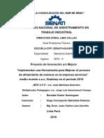 Proyecto Modelo MECÁNICA MANTENIMIENTO