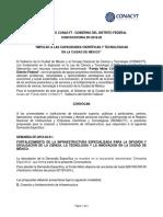 Fomix Distrito Federal Convocatoria 2018-02