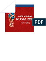 FIXTURE Del Mundial Rusia 2018