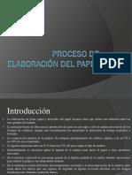 Proceso de Elaboración Del Papel