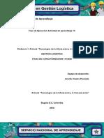 """Evidencia 1 Artículo """"Tecnologías de La Información y La Comunicación"""""""