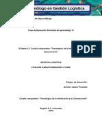"""Evidencia 2 Cuadro Comparativo """"Tecnologías de La Información y La Comunicación"""""""
