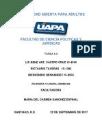 Filosofía y Lógica Juridica - Tarea III