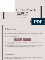 simple dc power supply