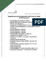 Especificaciònes Del Rectificador S-1