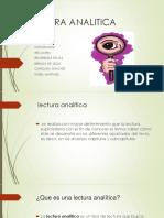 Lectura Analitica c