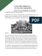 Plan de Desarrollo Metropolitano de Arequipa