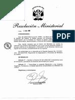 Directiva N° 001-2008-JUS Lineamientos para la formulación y aprobación de Directivas