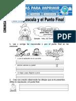 Ficha de La Mayúscula y El Punto Final Para Primaria