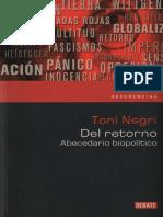 NEGRI, Tony, Del Retorno. Abecedario Biopolítico
