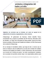 30-05-2017 Astudillo Toma Protesta a Integrantes Del Hospital de La Madre y El Niño.