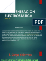 CONCENTRACION ELECTROSTATICA