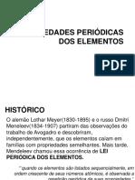 Propriedades Periodicas Dos Elementos Químicos