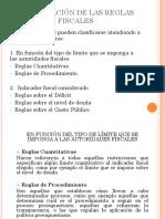 Clasificación reglas fiscales