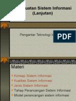 11 Pembuatan Sistem Informasi (Lanjut)