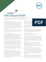 Dell Latitude e5430 Spec Sheet