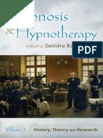 Hypnosis and Hypnotherapy Volume 1 - Deirdre Barrett