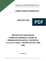 1.Especificaciones Técnicas Arquitectura