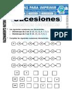 Ficha de Sucesiones Para Primero de Primaria