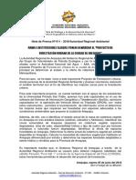 NOTA DE PRENSA N° 011 - INICIO PROYECTO DE FORESTACIÓN URBANA DE LA CIUDAD DE AREQUIPA