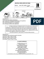 Simulado Português e Matemática
