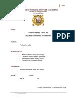 Delitos Contra El Patrimonio Codigo Penal Peru