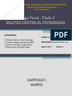 Delitos Contra El Patrimonio Codigo Penal Peruano