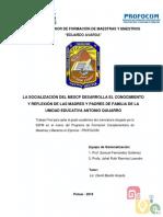 Sistematización Profocom u. e. Antonio Quijarro