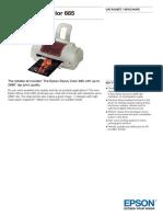 Epson Stylus Color 685 Datasheet