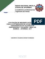 Utilización de Imágenes Satelitales Para La Optimización de Levantamientos Topograficos de Taladros de Perforacion y Voladura - Mina Las Bambas – Apurimac- 2017