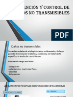 Prevención y Control de Daños No Transmisibles