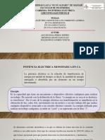 1 - Potencia Electrica Monofasica en CA Capacitiva, Resistiva e Inductiva