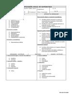 Plan Anual - Matematica - 3 Años
