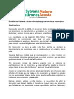 12/06/2018 Establecen Sylvana y Maloro iniciativas para fortalecer municipios