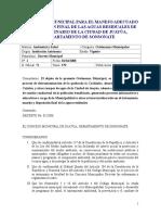 Ordenanza Municipal Para El Manejo Adecuado de Las Aguas Residuales de Tipo Ordinario de La Ciuda