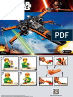 poe xwing fighter lego instructions