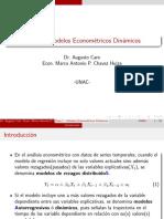 MODELOS ECONOMÉTRICOS DINÁMICOS-Modelo de Koyck-