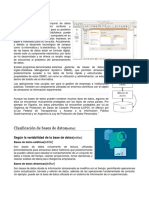 Base de Datos y Acces