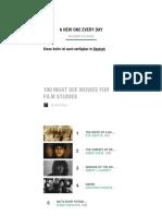 100 Must See Movies for Film Studies - Movies List on MUBI